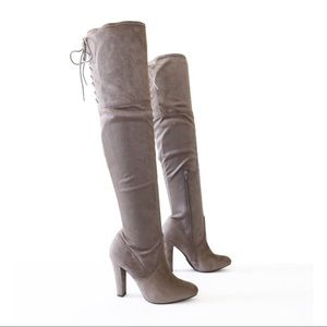 obey-taupe-over the knee boots